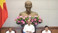 Thủ tướng Nguyễn Xuân Phúc chủ trì phiên họp Chính phủ chuyên đề xây dựng pháp luật. Ảnh: VGP