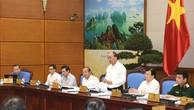 Thủ tướng Nguyễn Xuân Phúc chủ trì phiên họp Chính phủ chuyên đề pháp luật ngày 22/8. - Ảnh: VGP