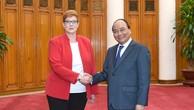 Thủ tướng Nguyễn Xuân Phúc tiếp Bộ trưởng Quốc phòng Australia Marise Payne đang thăm làm việc tại Việt Nam. Ảnh: VGP