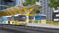 Mô hình tuyến xe buýt nhanh số 1 chạy trên đường Võ Văn Kiệt - Mai Chí Thọ. (Ảnh minh họa).