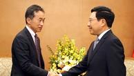 Phó Thủ tướng Phạm Bình Minh tiếp Phó Chủ tịch JICA Shinya Ejima. Ảnh: VGP