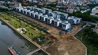 Chủ đầu tư dự án biệt thự trăm tỷ đã phải tự phá dỡ xong phần diện tích vi phạm khoảng lùi sông Sài Gòn.