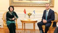 Trưa 17/10/2017, tại Thành phố Helsinki, Phó Chủ tịch nước Đặng Thị Ngọc Thịnh hội kiến Thủ tướng Phần Lan Juha Sipila. Ảnh: TTXVN