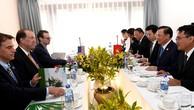 Lãnh đạo ngành tài chính Việt Nam và Hoa Kỳ trao đổi các chương trình hợp tác song phương. Ảnh: VGP