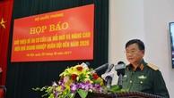 Thiếu tướng Võ Hồng Thắng, Cục trưởng Cục Kinh tế, Bộ Quốc phòng cung cấp thông tin tại cuộc họp báo.