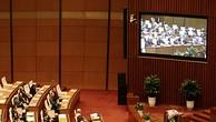 Toàn cảnh phiên họp Quốc hội sáng 23/10.