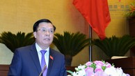 Bộ trưởng Bộ Tài chính Đinh Tiến Dũng trình bày báo cáo tại Quốc hội.