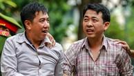 Nguyễn Minh Hùng (phải) và Cường đến tòa chiều nay.