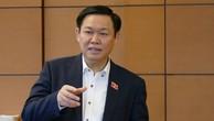 Phó Thủ tướng Vương Đình Huệ phát biểu tại phiên thảo luận. Ảnh: VGP
