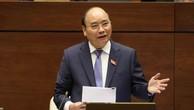 Thủ tướng Chính phủ Nguyễn Xuân Phúc đã trả lời chất vấn tại hội trường. Ảnh: TTXVN