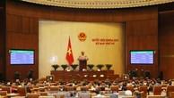 Quốc hội thông qua toàn văn Luật sửa đổi, bổ sung một số điều của Luật Các tổ chức tín dụng. Ảnh: TTXVN