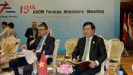 Phó Thủ tướng Phạm Bình Minh dự Hội nghị Bộ trưởng Ngoại giao ASEM 13. Ảnh: baoquocte.vn