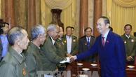 Chủ tịch nước Trần Đại Quang tri ân các công dân Lào có công với cách mạng Việt Nam