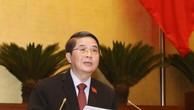 Chủ nhiệm Uỷ ban Tài chính, Ngân sách của Quốc hội Nguyễn Đức Hải trình bày Báo cáo giải trình, tiếp thu, chỉnh lý dự án Luật Quản lý nợ công (sửa đổi). Ảnh: TTXVN