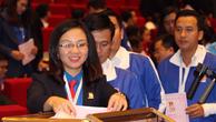 Đại hội bỏ phiếu bầu Ban chấp hành Trung ương Đoàn sáng 12/12. Ảnh: Báo Tuổi trẻ