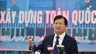 Phó Thủ tướng Trịnh Đình Dũng  cho rằng ngành VLXD trong nước cần hướng đến phát triển một cách bền vững trên cơ sở sử dụng tài nguyên tiết kiệm, hiệu quả, bảo vệ môi trường; đáp ứng nhu cầu sử dụng trong nước và tham gia xuất khẩu. Ảnh: VGP