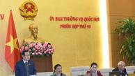 Phó Chủ tịch Quốc hội Phùng Quốc Hiển phát biểu. Ảnh: TTXVN