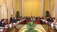 Văn phòng Chủ tịch nước họp báo công bố 6 luật. Ảnh: TTXVN