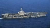 Tàu sân bay hạt nhân USS Carl Vinson. Ảnh: Reuters