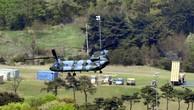Hệ thống đánh chặn của THAAD tại vị trí triển khai hôm 27/4. Ảnh:Reuters