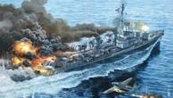 Tàu chiến Mỹ trụ vững trước đòn tự sát của 6 máy bay Nhật