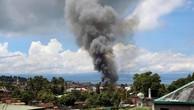 Quân đội Philippines lần đầu tiên dùng hỏa lực hạng nặng để đối phó phiến quân Maute ở Marawi. (Ảnh: Reuters)