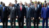 Tổng thống Mỹ Donald Trump và lãnh đạo các nước nhất trí tăng biện pháp với Triều Tiên. Ảnh:Reuters