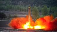 Một vụ thử lên lửa của Triều Tiên hồi tháng 03/2017. (Ảnh: KCNA/Reuters)
