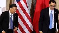 Phó thủ tướng Trung Quốc - Uông Dương và Bộ trưởng Tài chính Mỹ - Steven Mnuchin. Ảnh:Reuters