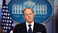 Ông Sean Spicer hôm qua thông báo từ chức thư ký báo chí Nhà Trắng. Ảnh:AP.