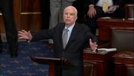 Ông McCain phát biểu sau cuộc bỏ phiếu thượng viện. Ảnh:Reuters.