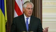 Ngoại trưởng Mỹ Rex Tillerson phát biểu tại thủ đô Kiev, Ukraine, ngày 9/7. Ảnh:Reuters.