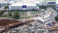Công ty TNHH MTV 319.3 bị đình chỉ thi công 2 tháng do để xảy ra vi phạm tại công trình cầu vượt thép nút giao Nguyễn Thái Sơn - Nguyễn Kiệm (TP.HCM). Ảnh: Lê Quân