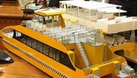 Mô hình tàu được sử dụng trên hai tuyến buýt sông đầu tiên của TP HCM. Ảnh:Hữu Nguyên.