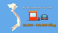 Từ Bắc vào Nam có bao nhiêu trạm thu phí?