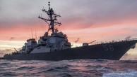 Tàu khu trục tên lửa dẫn đường John S. McCain của Mỹ hồi tháng một tuần tra ở Biển Đông. Ảnh:Hạm đội 7.