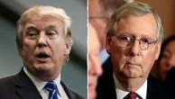 Tổng thống Mỹ Donald Trump (trái) và lãnh đạo phe đa số tại Thượng viện Mitch McConnell. Ảnh:The Hill.