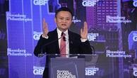 Jack Ma phát biểu tại Diễn đàn Doanh nghiệp Thế giới tại New York. Ảnh:Bloomberg
