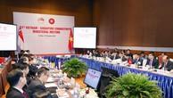 Hội nghị khẳng định hợp tác kinh tế Việt Nam - Singapore đã phát triển mạnh mẽ trên cả 6 lĩnh vực hợp tác. Ảnh: Lê Tiên