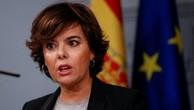 Phó thủ tướng Tây Ban Nha Soraya Saenz de Santamaria. Ảnh:Reuters.