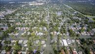 Cảnh ngập lụt sau bão Harvey tại bang Texas ngày 31/8. (Nguồn: EPA/TTXVN)