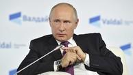 Tổng thống Nga Vladimir Putin phát biểu tại hội thảo ở Sochi, Nga, vào ngày 19/10. Ảnh:Reuters.
