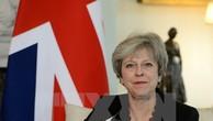 Thủ tướng Anh Theresa May phát biểu tại một hội nghị ở London. (Nguồn: AFP/TTXVN)