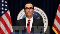 Bộ trưởng Tài chính Mỹ Steve Mnuchin phát biểu tại Simi Valley, California. (Nguồn: AFP/TTXVN)