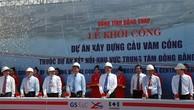 Khởi công xây dựng cầu Vàm Cống kết nối vùng Đồng bằng Mekong