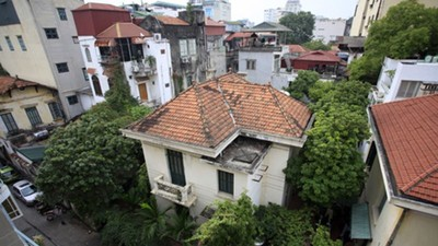 Biệt thự 12 Nguyễn Chế Nghĩa nhìn từ trên cao.