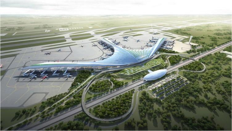 Một trong các phương án thiết kế của sân bay quốc tế Long Thành.