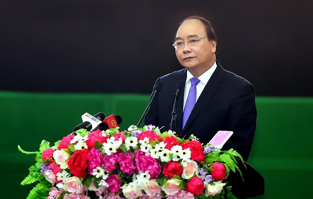 Thủ tướng Chính phủ Nguyễn Xuân Phúc phát biểu tại Hội nghị. Ảnh: VGP