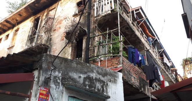 Khu tập thể 311 Đà Nẵng (quận Ngô Quyền) xuống cấp nghiêm trọng (được xếp hạng cấp độ D) cần được cải tạo, xây mới.