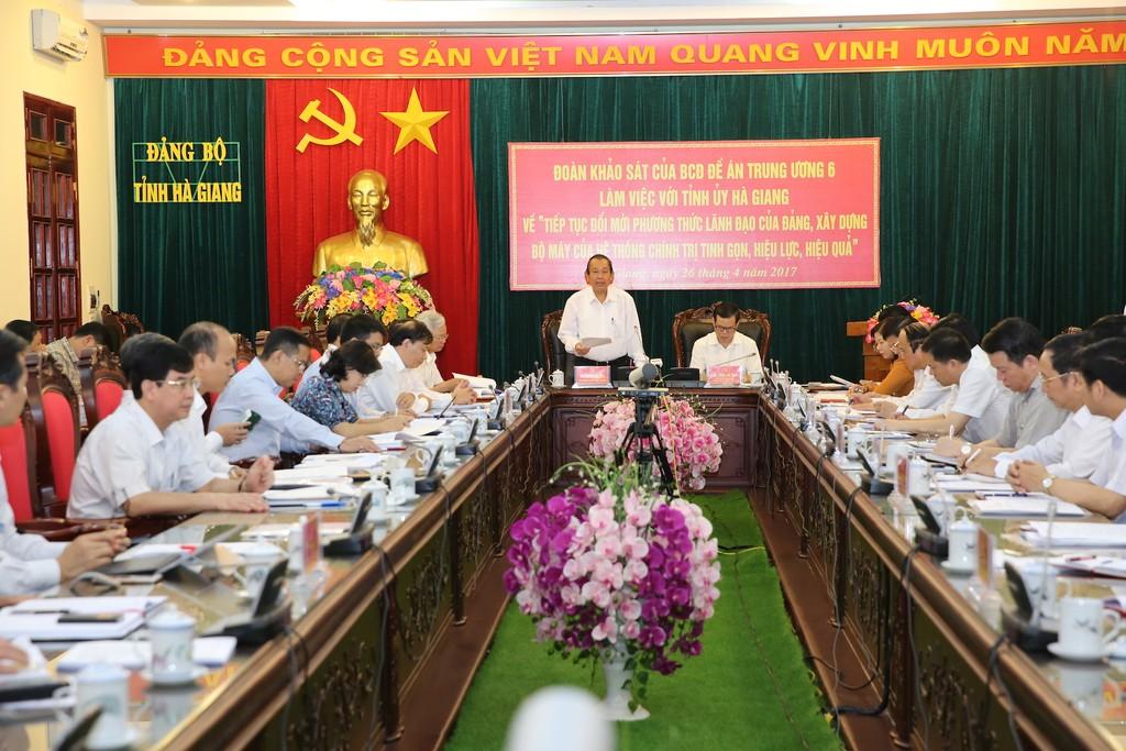 Phó Thủ tướng Thường trực làm việc với Tỉnh ủy Hà Giang - ảnh 1